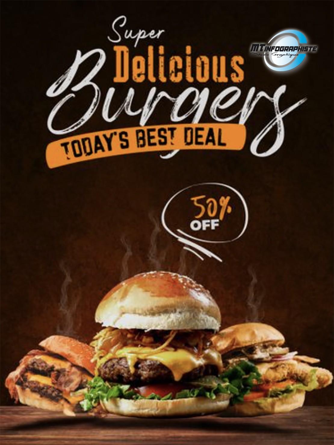 Affiche menu burger