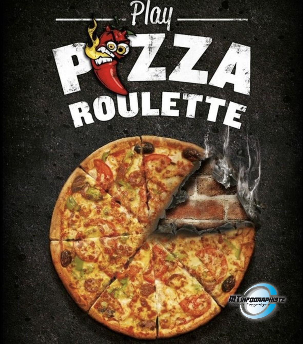 Affiche menu pizza
