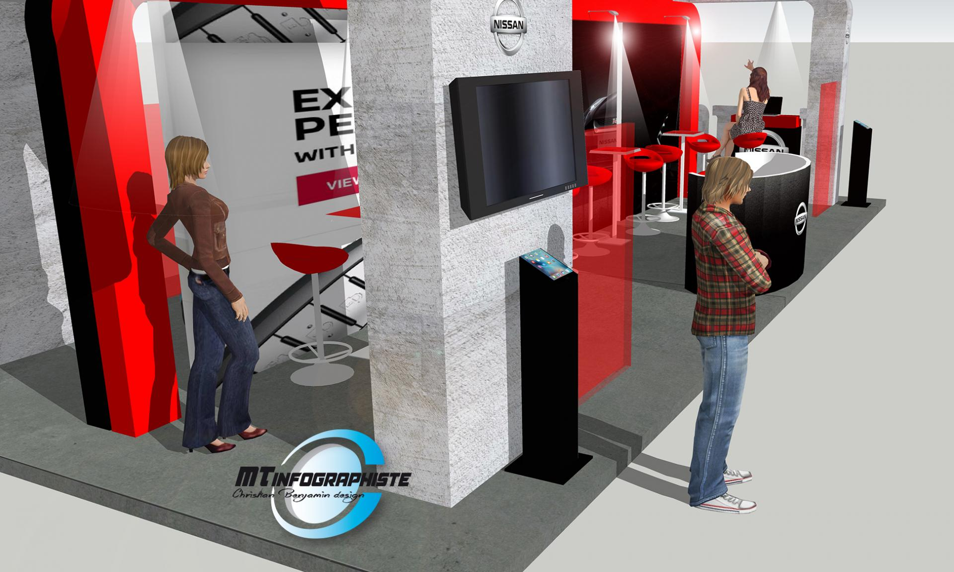 3D Stand Nissan