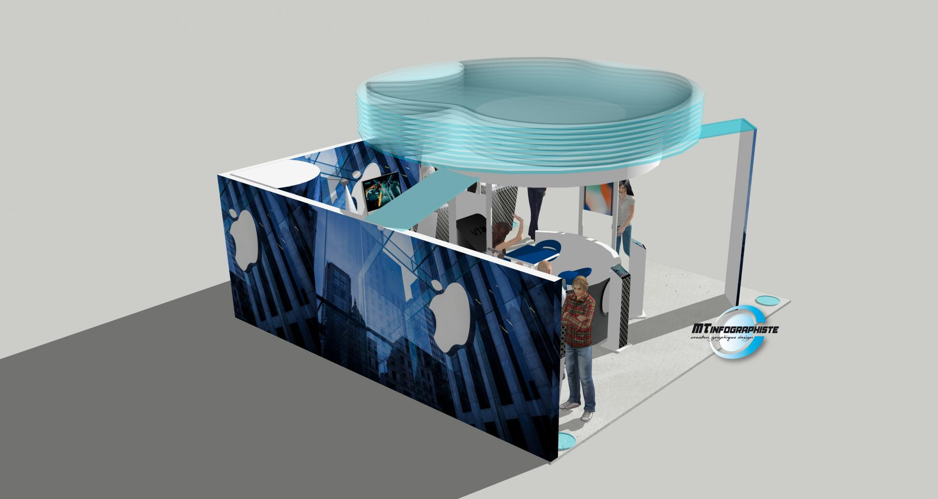 3D Stand Apple
