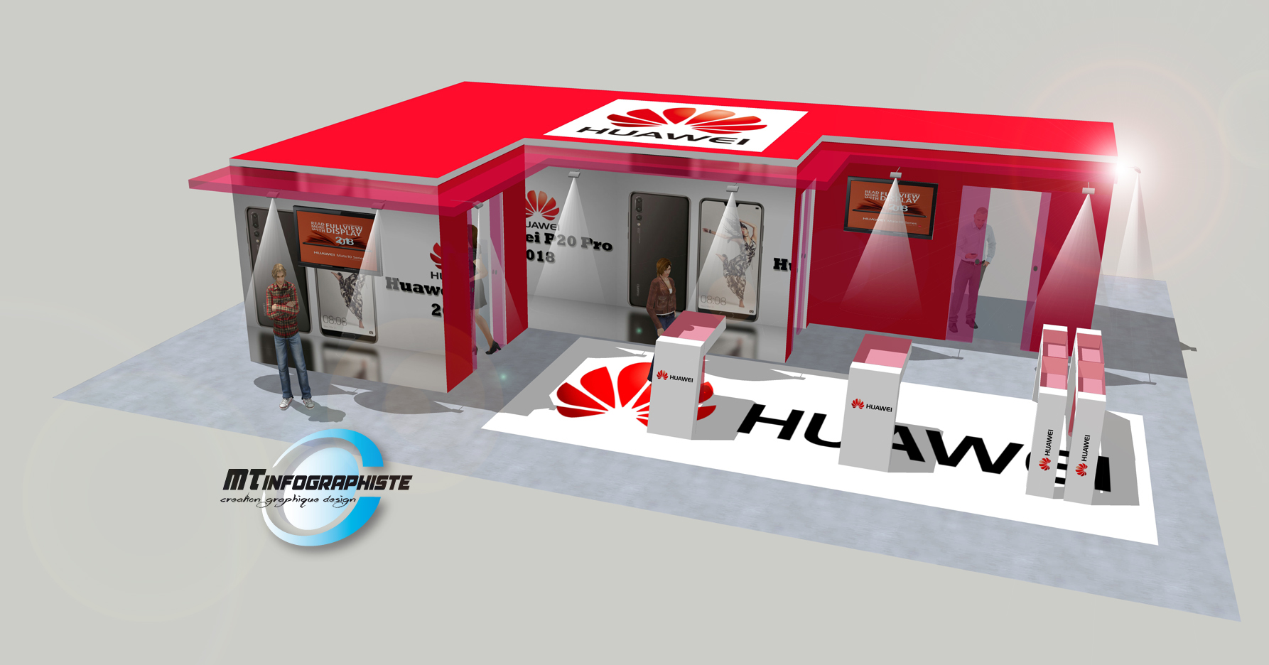 3D stand huawei